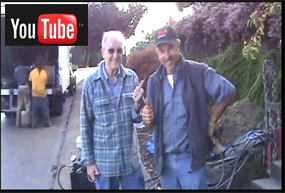 A YouTube video of a satisfied sewer line replacement customer